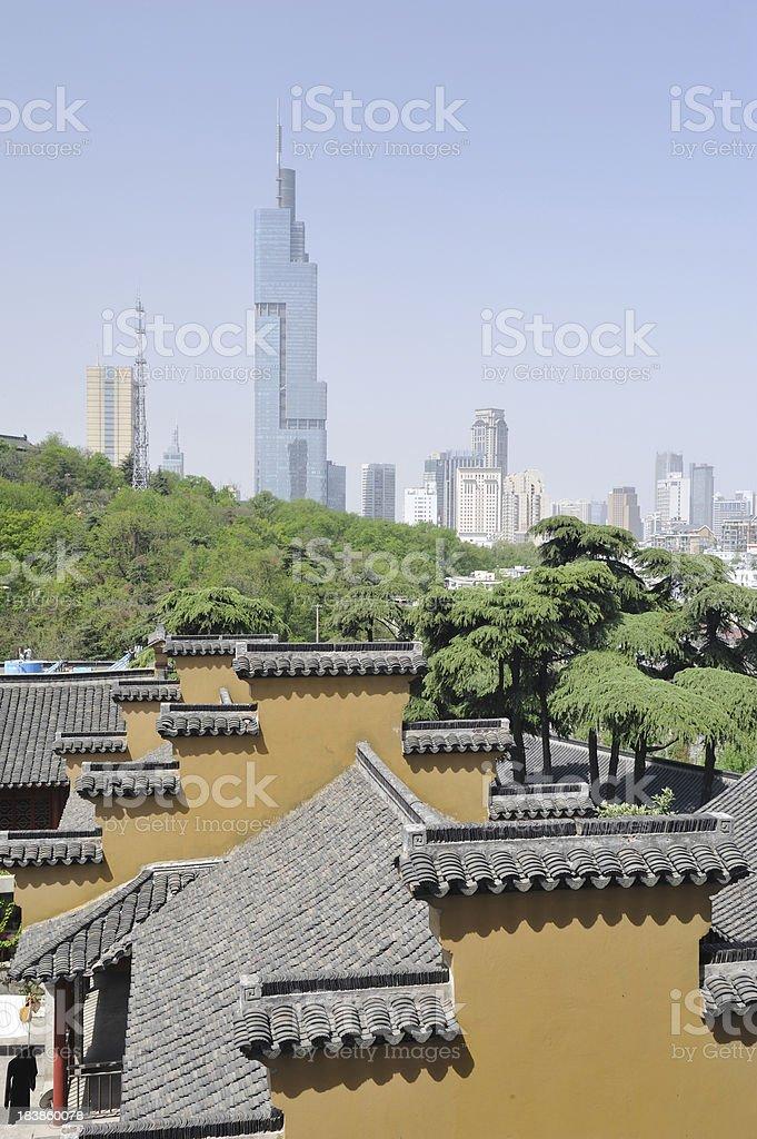 Buildings in Nanjing stock photo