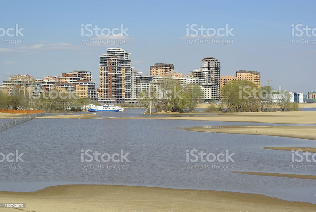 Buildings in nature royalty-free stock photo