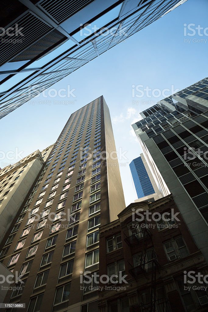 Buildings in New York stock photo