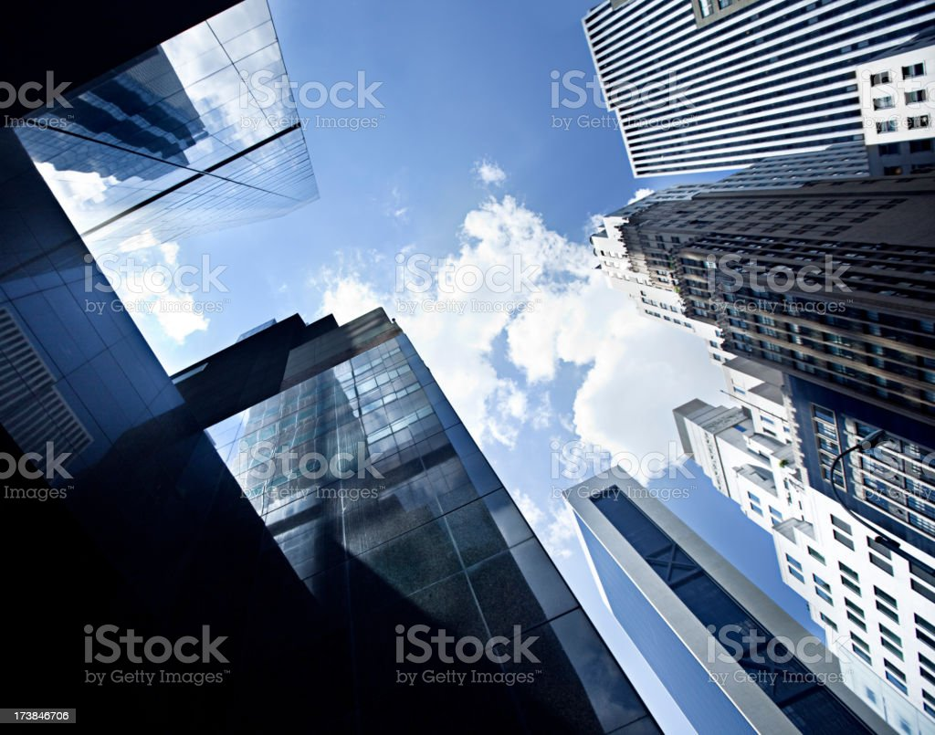 Buildings in NYC royalty-free stock photo