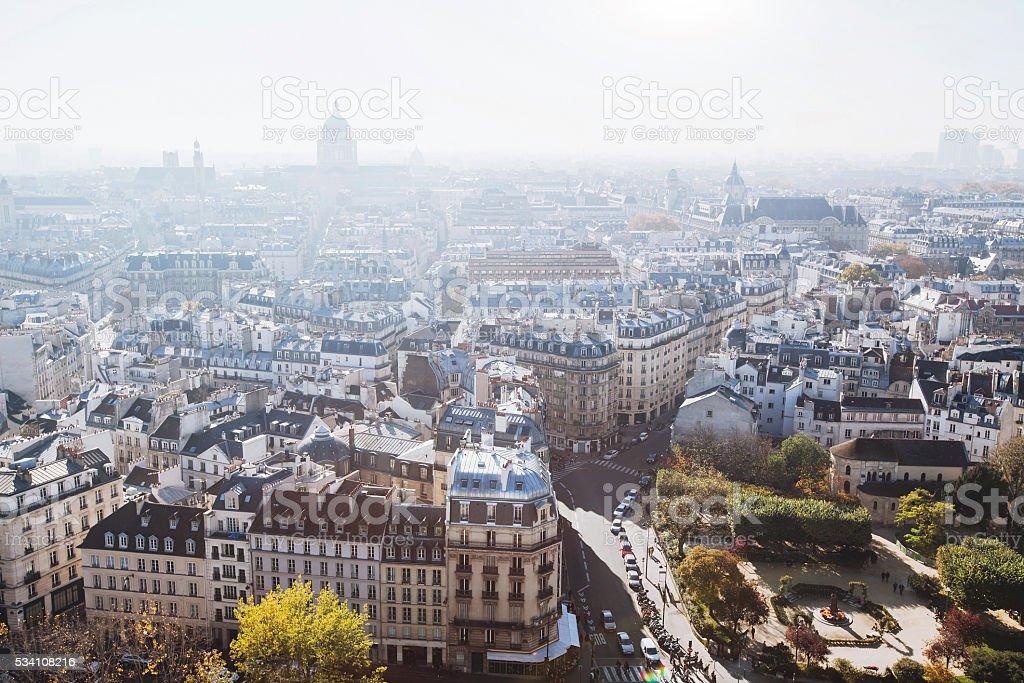 buildings in Paris stock photo