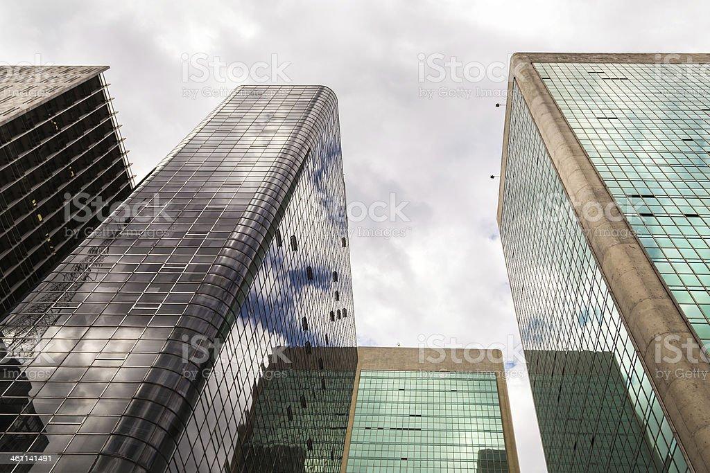 Buildings in Paulista Avenue, Sao Paulo royalty-free stock photo