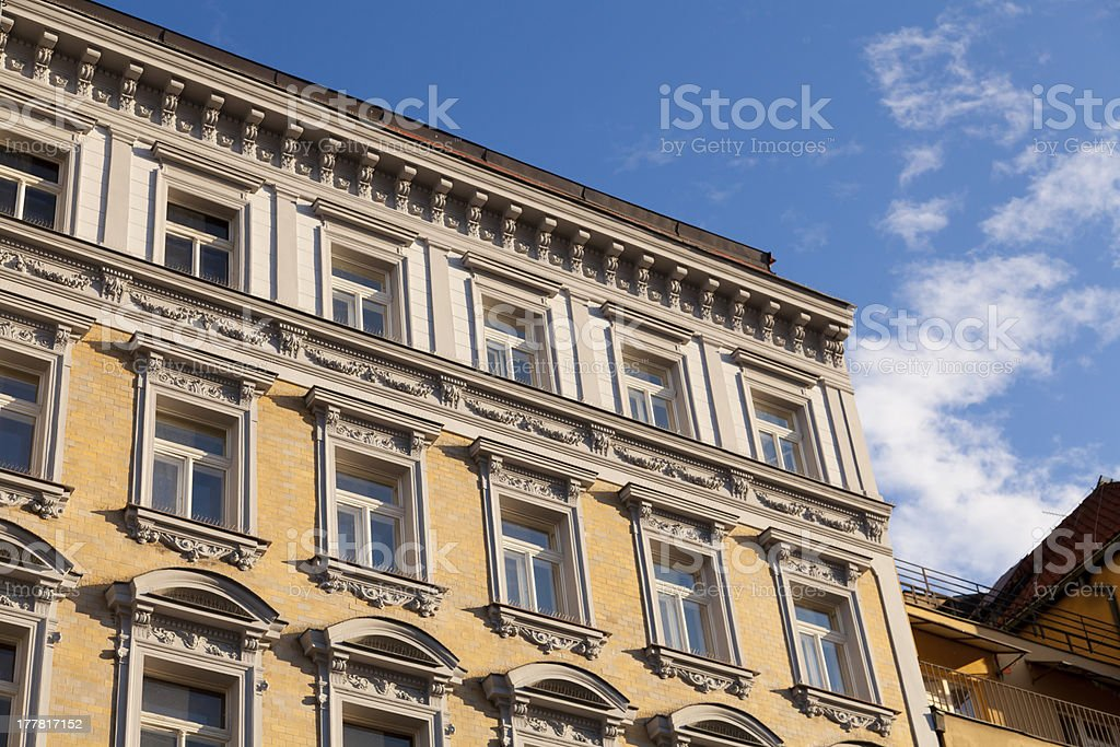 Buildings in Prague royalty-free stock photo