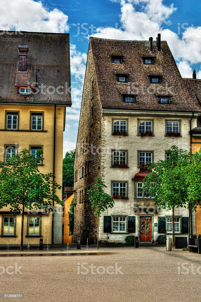 Buildings in Schaffhausen HDR stock photo