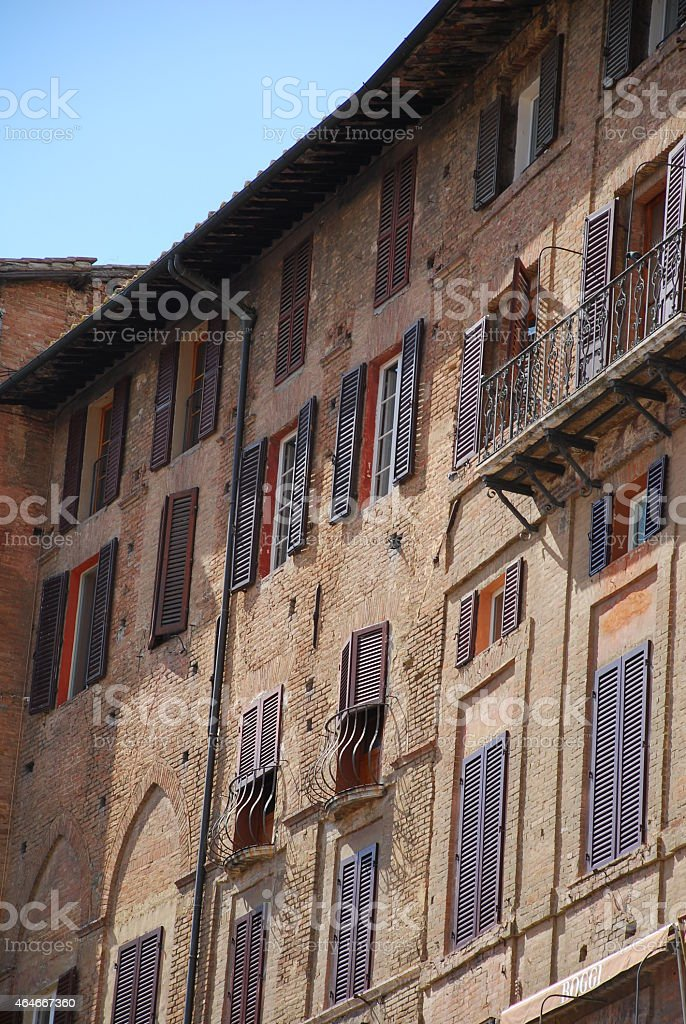 Buildings in Siena stock photo