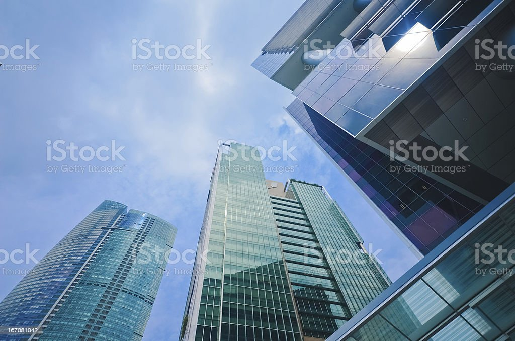 Buildings in Singapore skyline royalty-free stock photo