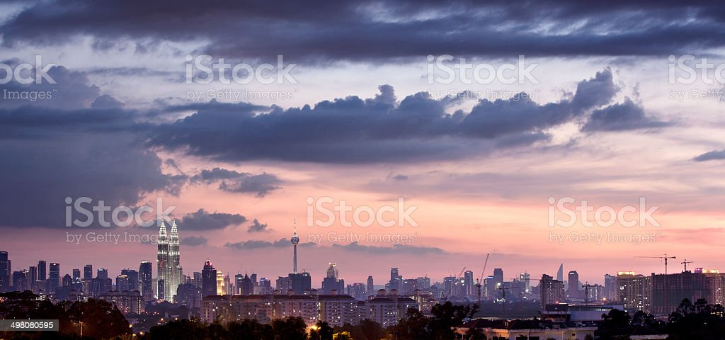 buildings in sun set time royalty-free stock photo