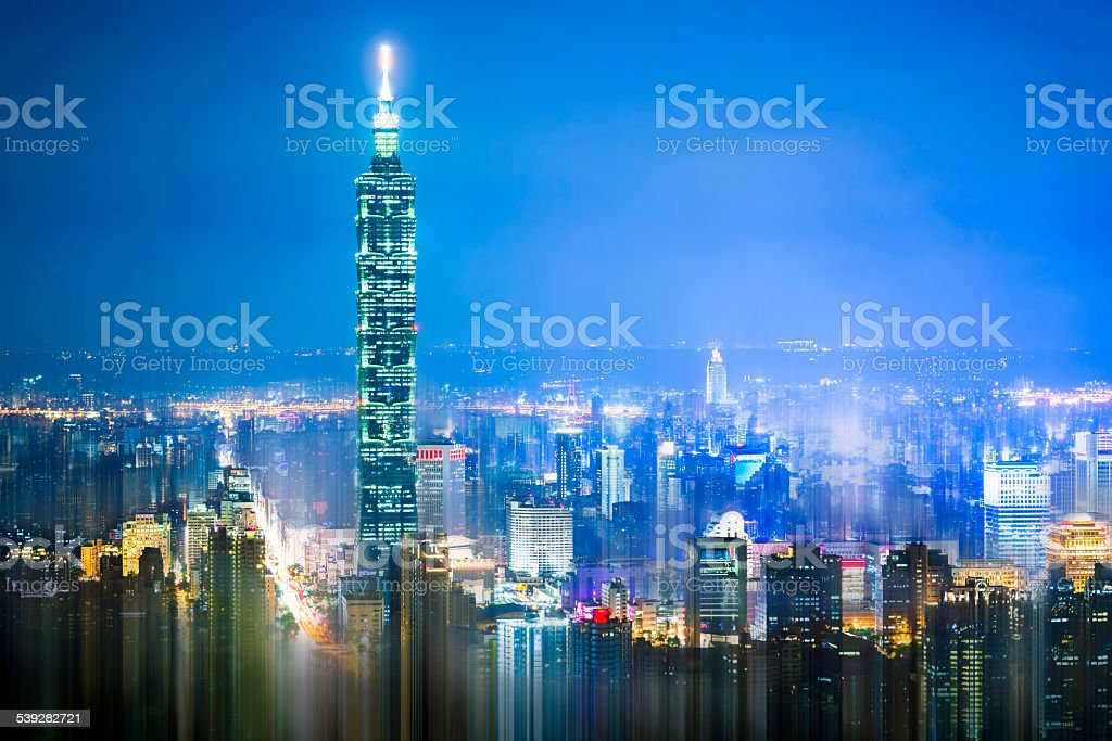 Buildings in Taipei, Taiwan stock photo