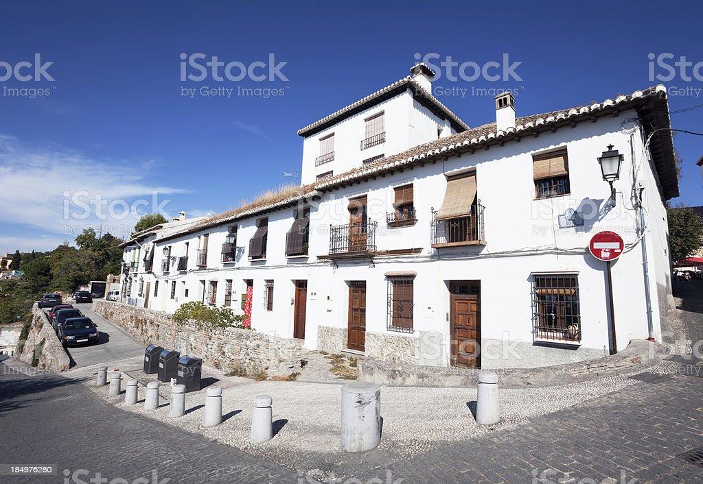 'Buildings in the Albaycin, Granada, Spain' stock photo