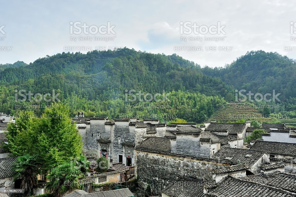 Buildings in the ancient village 010 stock photo