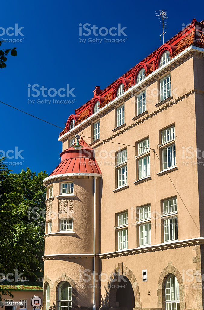 Buildings in the city centre of Helsinki - Finland stock photo