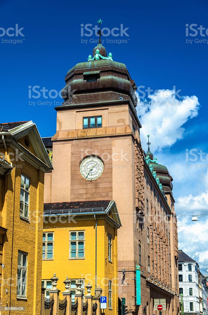 Buildings in the city centre of Oslo stock photo