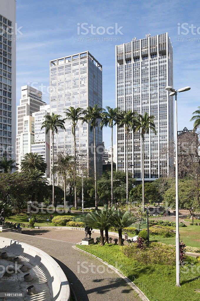 Buildings in the city of Sao Paulo. stock photo