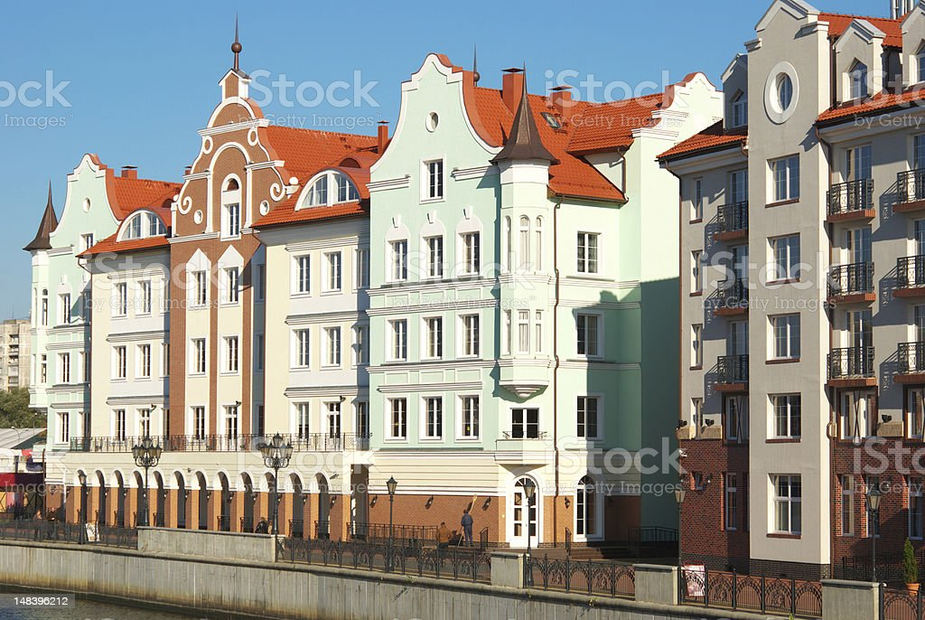 Buildings in the old style stock photo