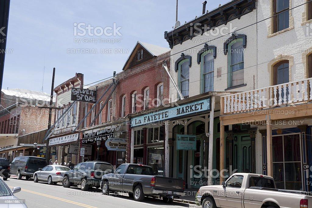 Buildings in Virgina City, NV stock photo