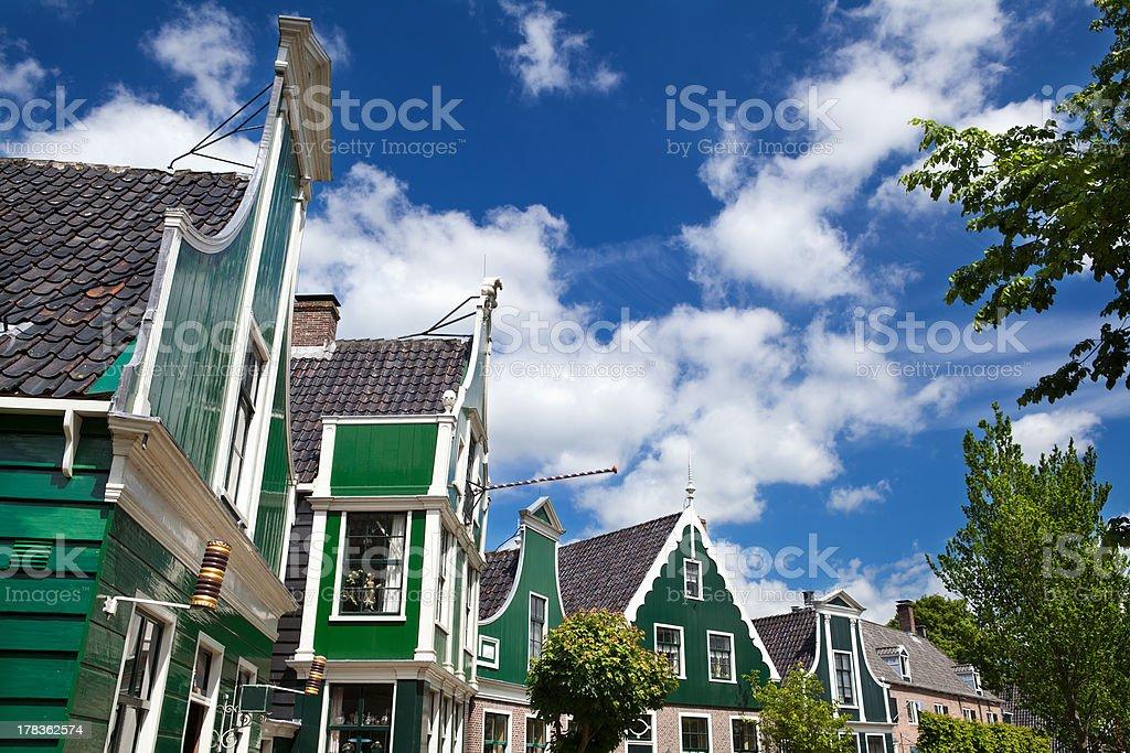 buildings in Zaanse Schans stock photo
