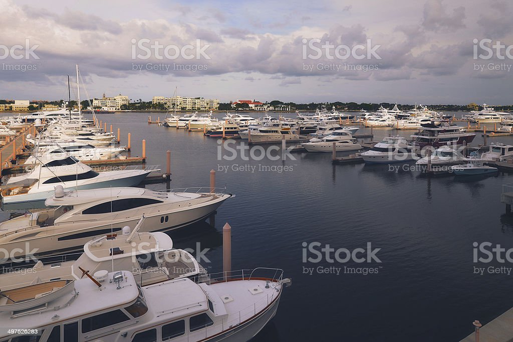 Buildings & Marinas In Palm Beach stock photo