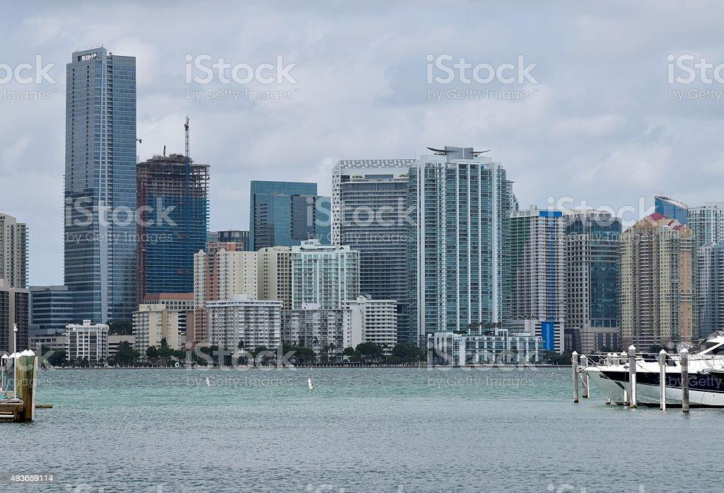 Buildings Miami Downtown stock photo