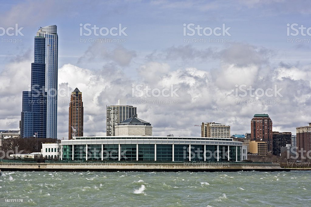 Buildings od South Loop stock photo