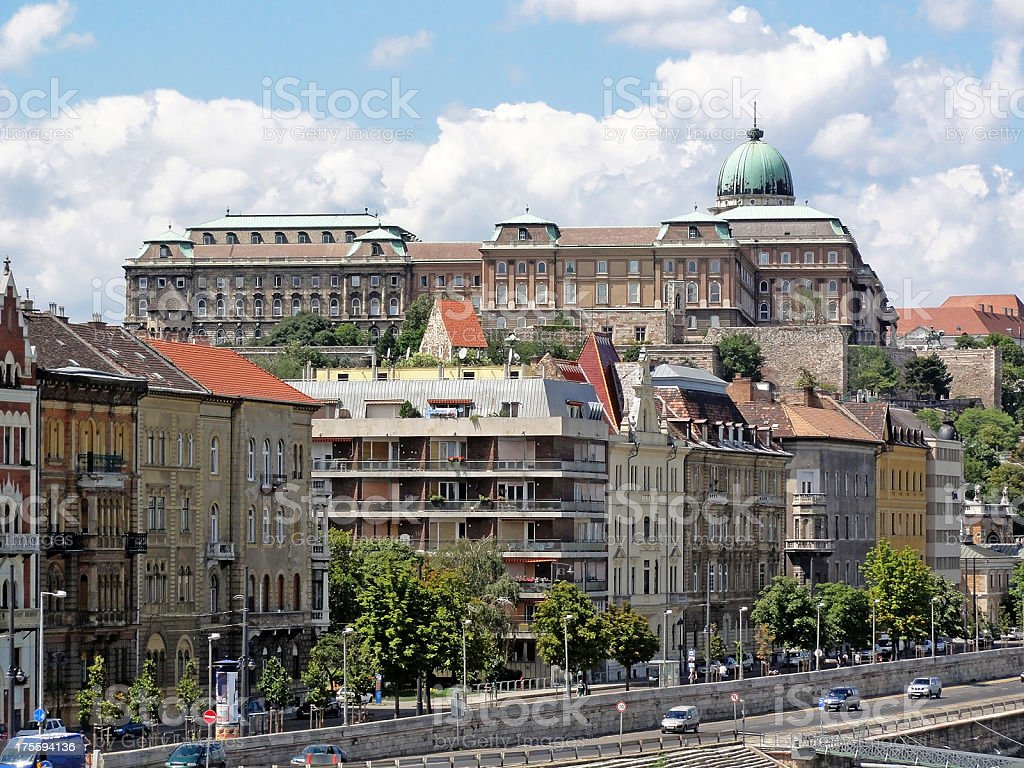 buildings of Budapest royalty-free stock photo