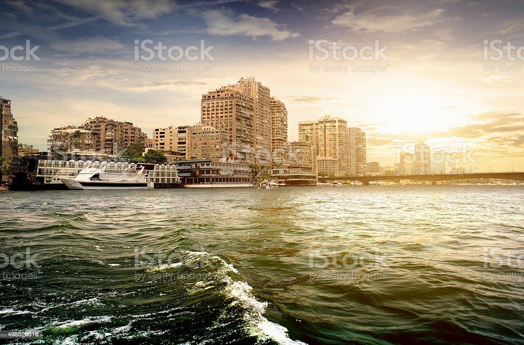 Buildings of Cairo stock photo