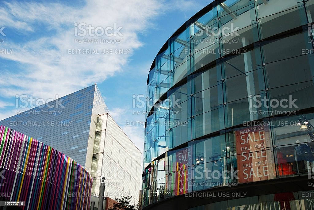 Buildings of Liverpool One shopping center royalty-free stock photo