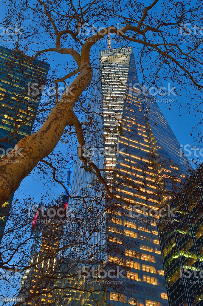 Buildings of Manhattan - Bank Of America Tower. stock photo