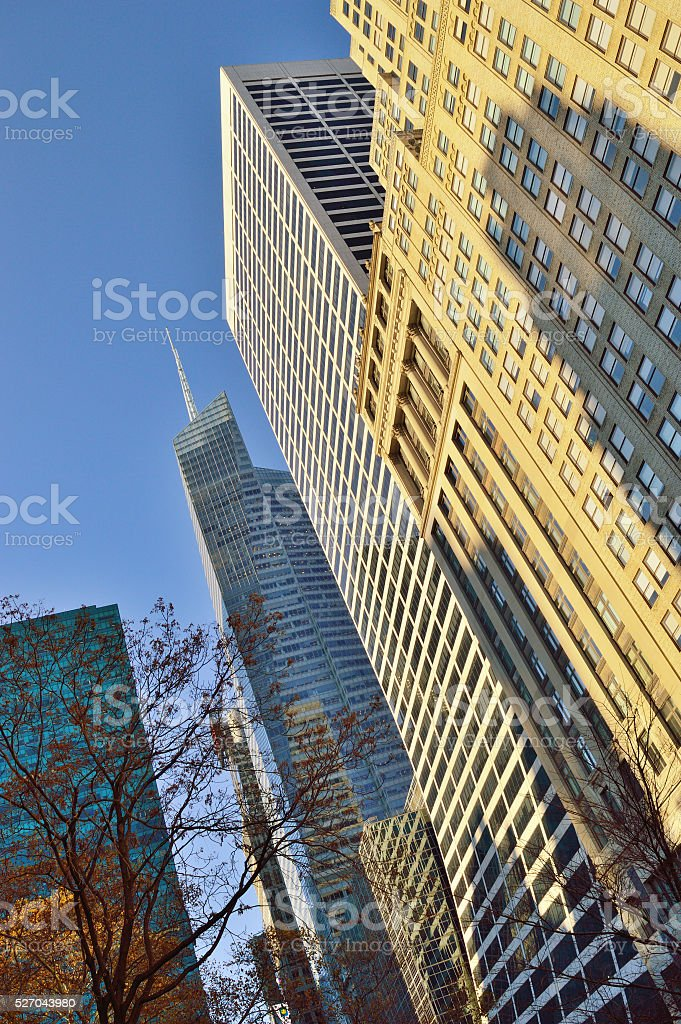 Buildings of Manhattan. stock photo