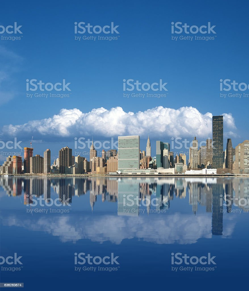 Buildings of Midtown Manhattan. stock photo