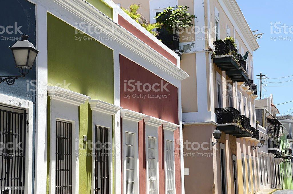 Buildings of Old San Juan royalty-free stock photo