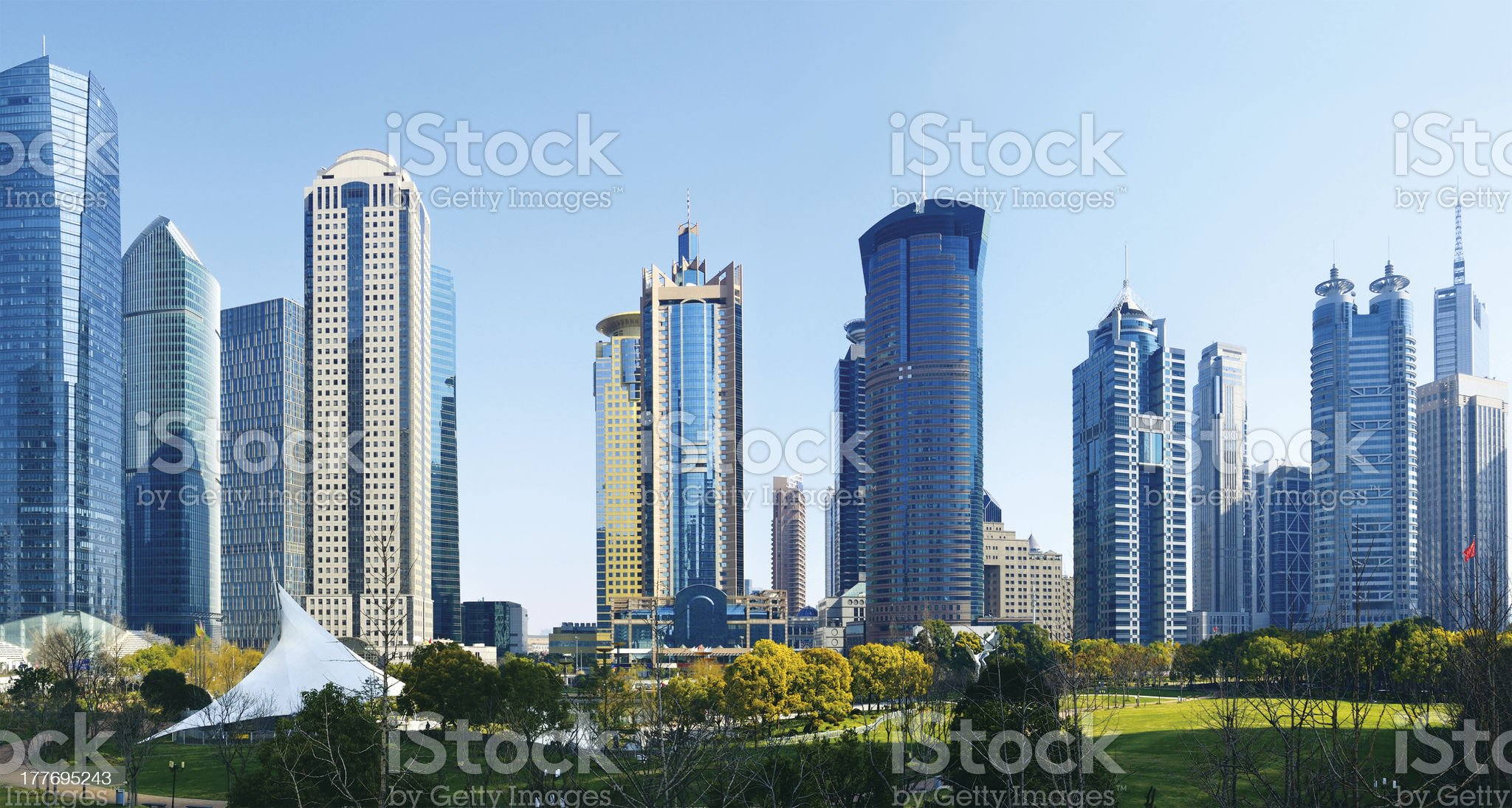 Buildings of the financial district royalty-free stock photo