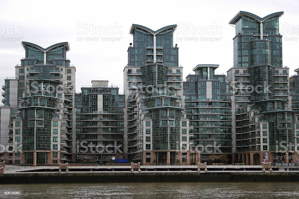 Buildings of the Thames. royalty-free stock photo