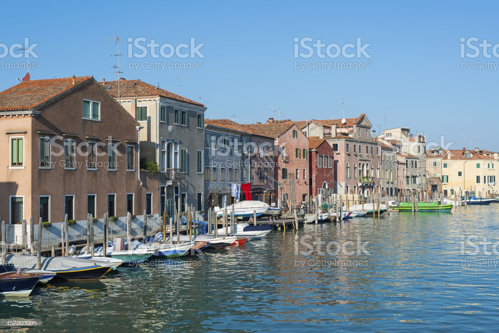 Buildings on a canal in Venice royalty-free stock photo