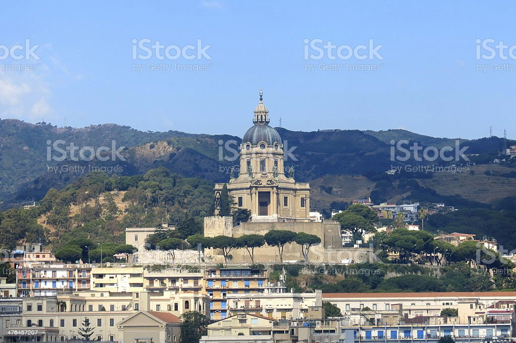 buildings on the coast of sicily royalty-free stock photo