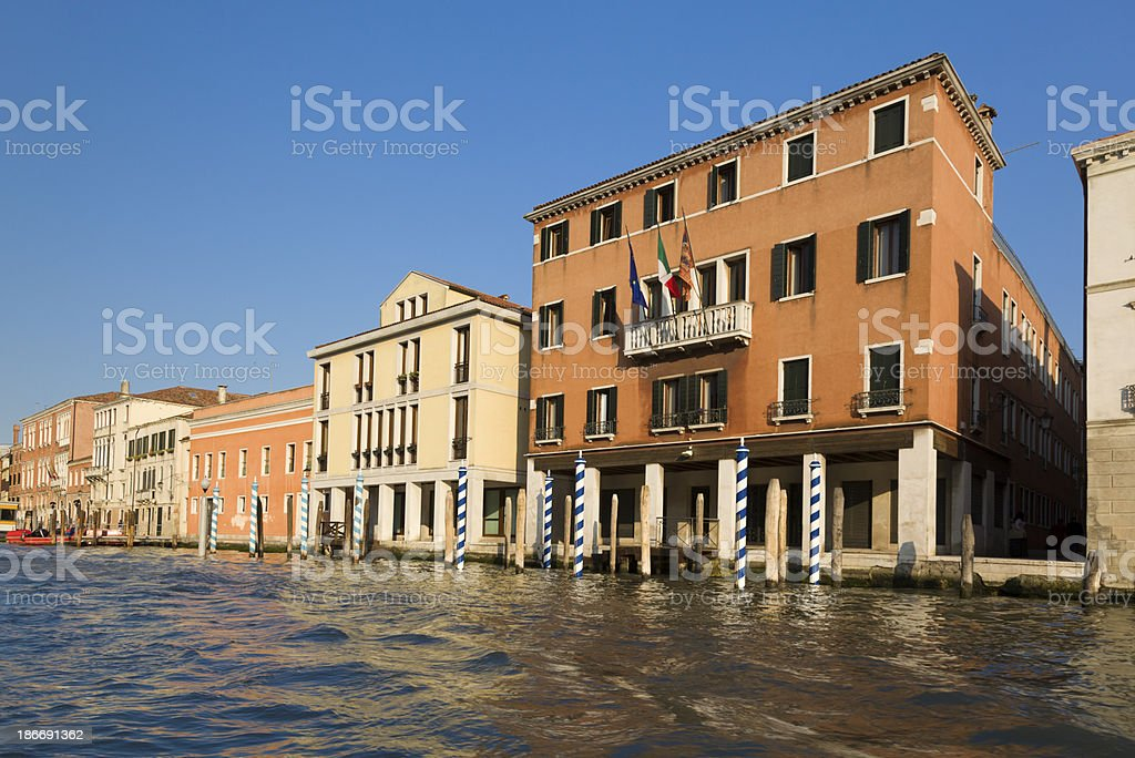 Buildings on the Grand Canal royalty-free stock photo