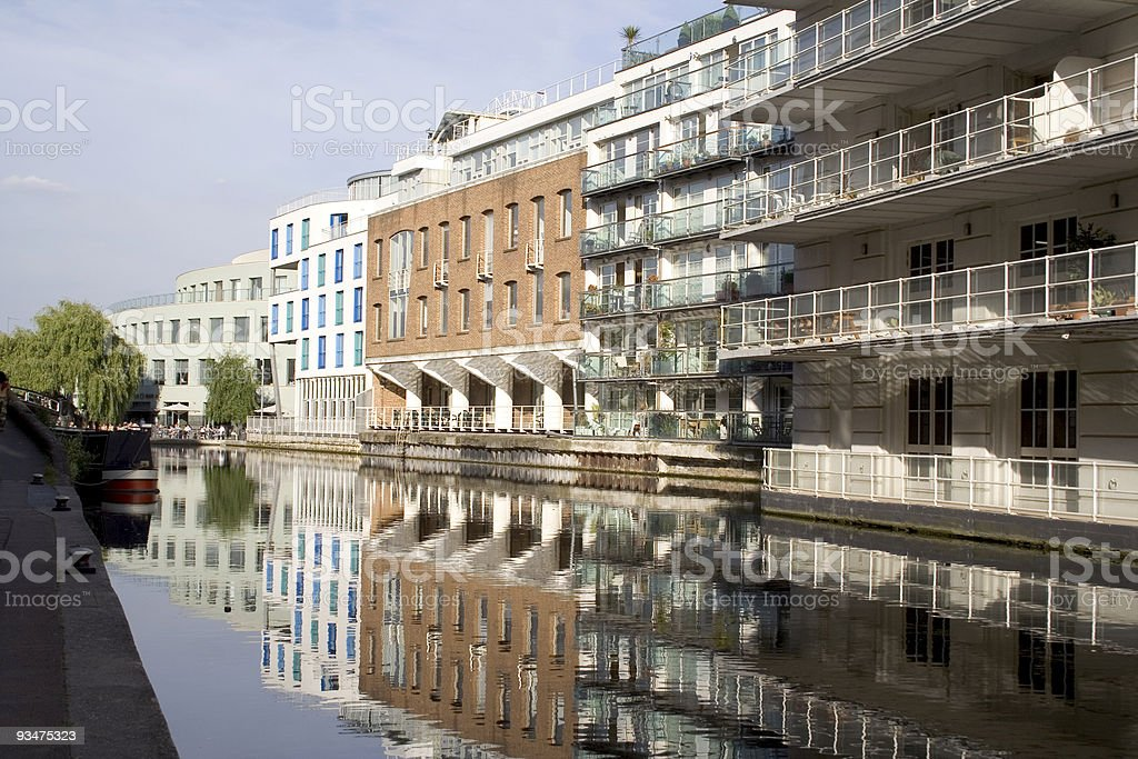 buildings on the river royalty-free stock photo