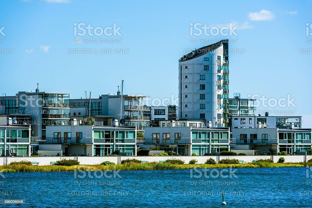 Buildings on Varvsholmen stock photo