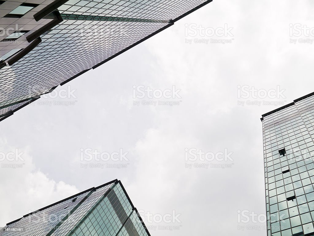 buildings perspective view bottom-up royalty-free stock photo