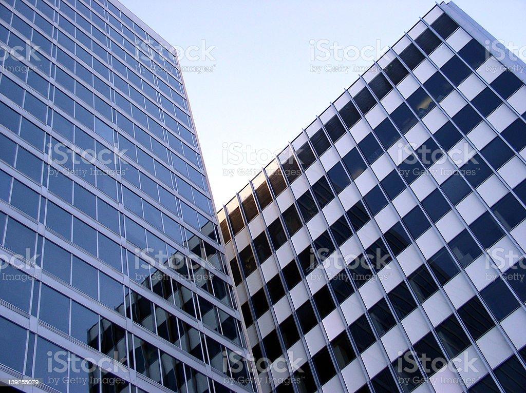 2 Buildings stock photo
