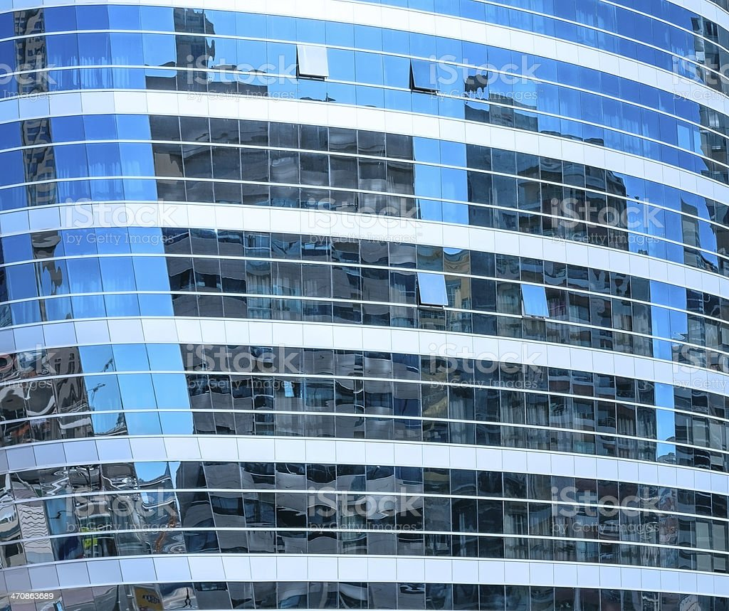 Buildings reflected in glassed royalty-free stock photo