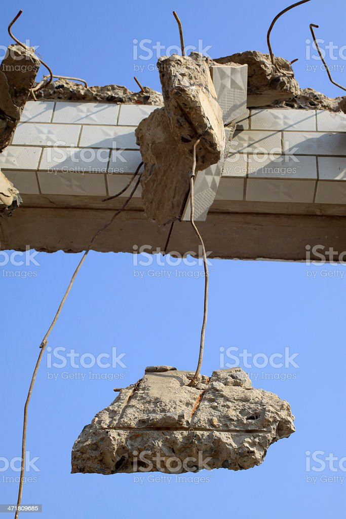 buildings residues royalty-free stock photo