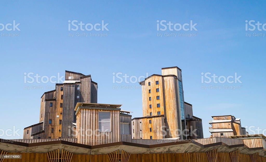 Buildings resort in Avoriaz, France stock photo