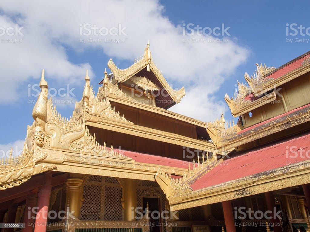 Buildings, Royal Palace, Mandalay, Myanmar stock photo