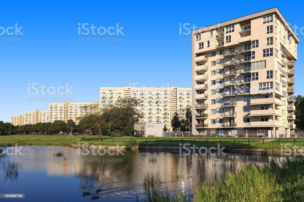 Buildings social realist stock photo