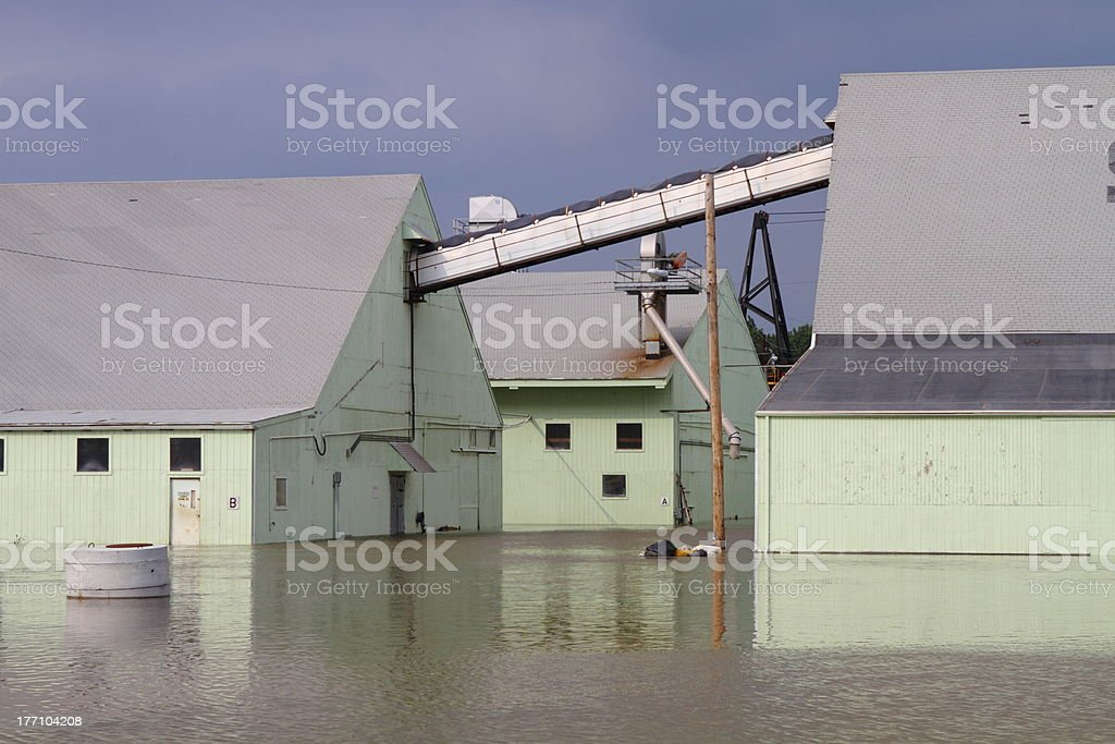 Buildings under water royalty-free stock photo