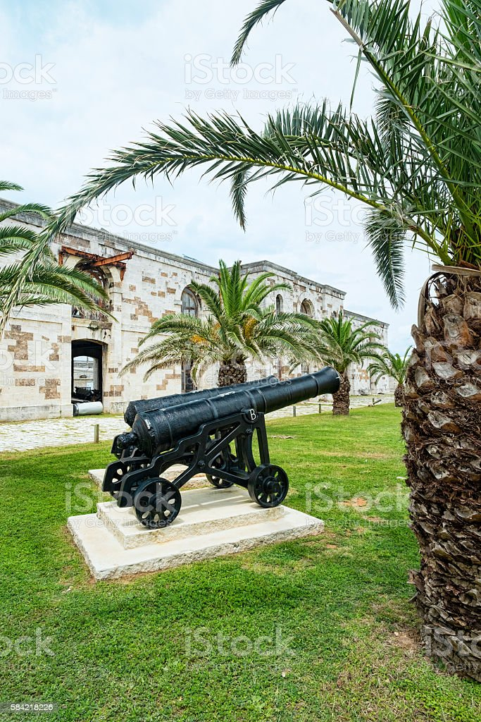 Buildings Victualling Yard. Royal Naval Dockyard, West End, Bermuda stock photo