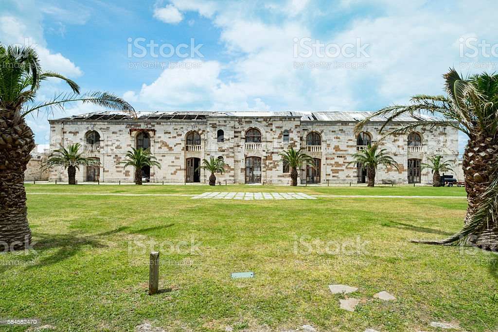 Buildings Victualling Yard. Royal Naval Dockyard, West End, Bermuda stock photo