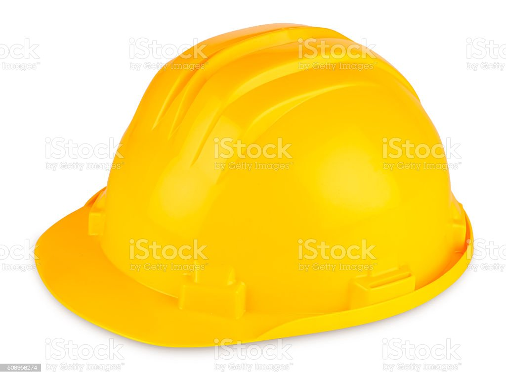 building-site helmet stock photo