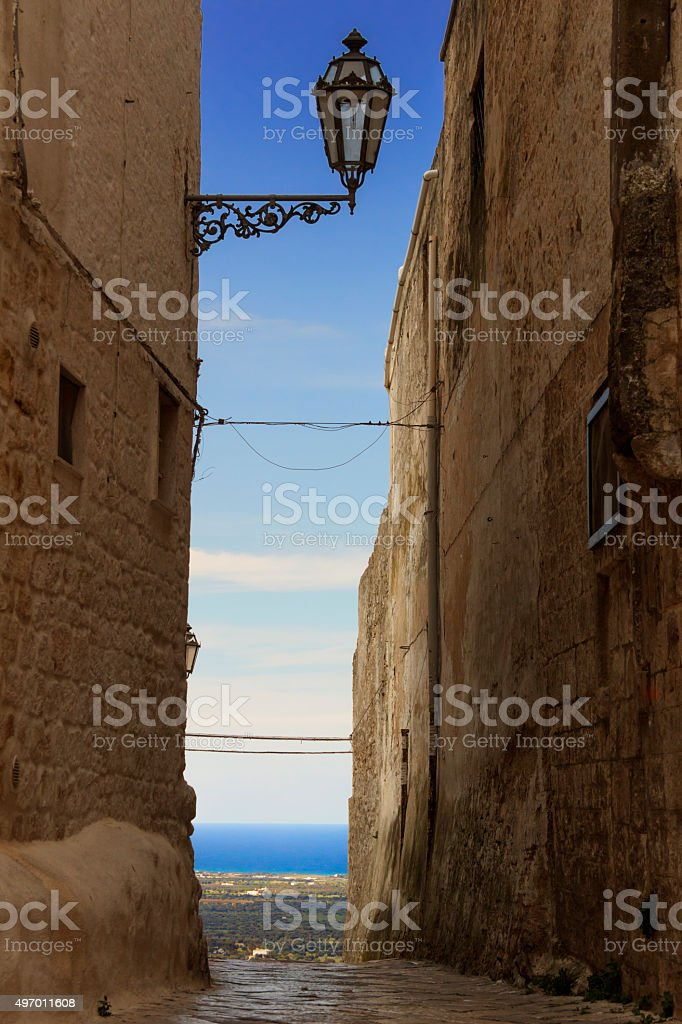 ARCHITECTURE AND BUILDINGS..Ostuni:panoramic view of the Valle d'Itria.-ITALY(Apulia)- stock photo