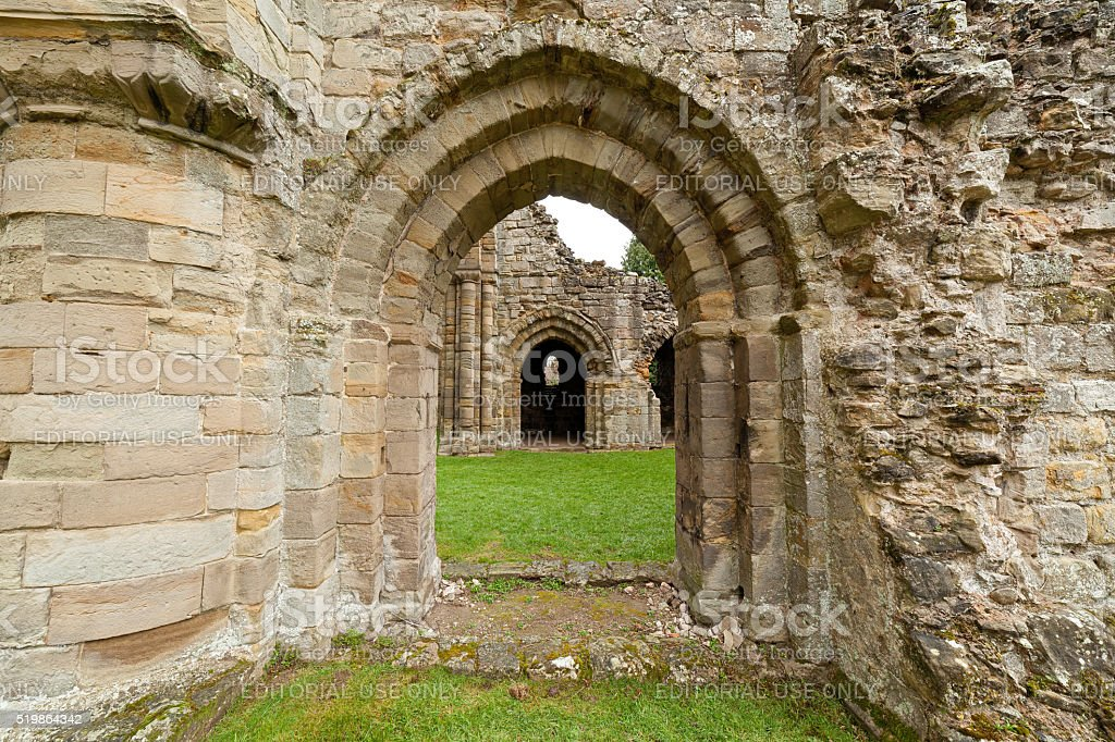 Buildwas abbey ruins. stock photo
